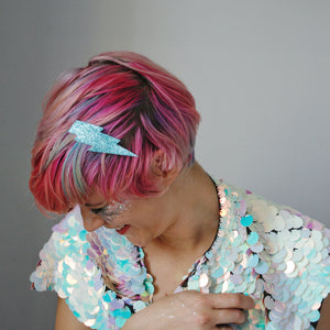 Lightning bolt hairclip - Turquoise