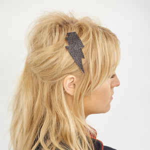 Lightning bolt hairclip - Black