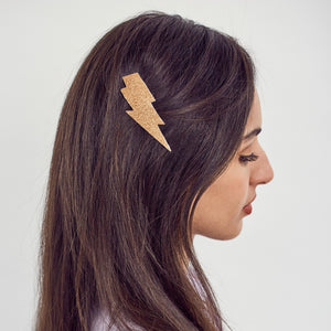 Lightning bolt hairclip - Gold