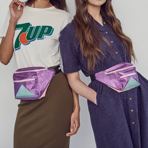 Mini purple and mint bumbag