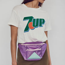 Purple and mint bumbag
