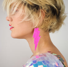 Neon pink Lightning Earrings