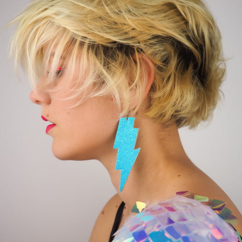 Blue Lightning Earrings