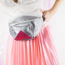 Silver and pink small bumbag