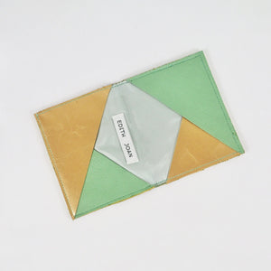 Mint & Gold leather card holder