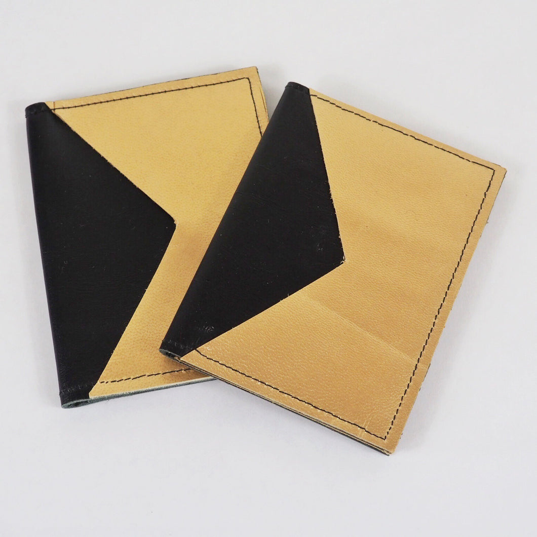 Black & Gold leather card holder