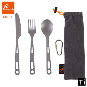 Fire Maple Outdoor Camping 3 pcs Titanium Cutlery set