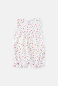 Babycotton Berry Pima Girl Romper