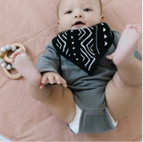 Loulou LOLLIPOP Muslin Bandana Bib Set - Mud Cloth