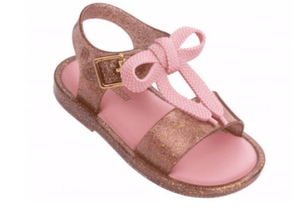 Mini Melissa Mini Mar Gold Glitter-Shoes-Gigil