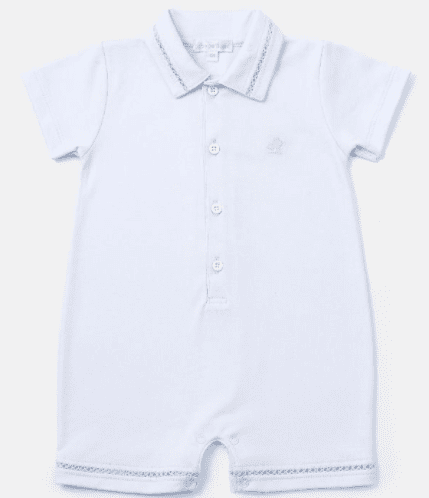 Baby Boy Enterito Vanilla Celeste by Baby Cotton-Pima Cotton-Gigil