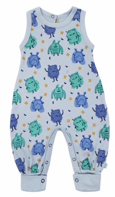 Monsters Playsuit-100% Organic Cotton-Gigil
