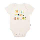 Finn And Emma Bodysuit, We are late-100% Organic Cotton-Gigil
