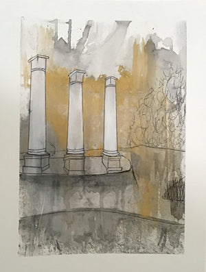 Columns in the Park by Renee Fox 9 x 12