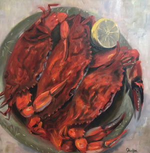 Fresh Catch by Cynthia Huston. oil painting on canvas, 24x24 in.