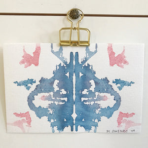 Inkblot 12 by Michelle Owenby Watercolor on paper