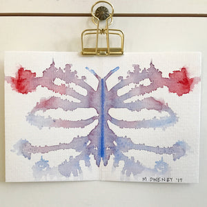 Inkblot 16 by Michelle Owenby. Watercolor on paper
