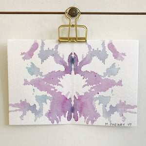 Inkblot 18 by Michelle Owenby. Watercolor on paper
