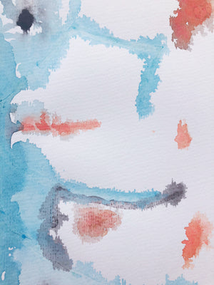 Inkblot 22 by Michelle Owenby. Watercolor on 140 lb cold press paper