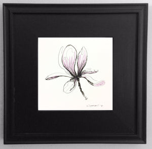 Japanese Magnolia by Rick Sargent. Watercolor and ink on paper framed