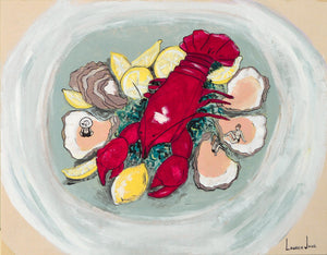 Lobster Seafood Platter by Lauren Jane