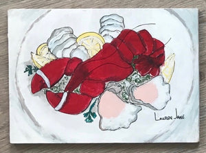 Mini Seafood Platter I by Lauren Jane