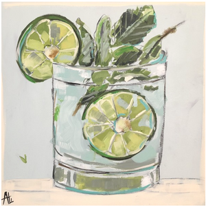 Mojito Magic by Ali Leja. 30x30 on canvas