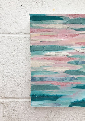 Wetland Series I by Kirsten Lindsay 8x10 Acrylic on Fabric