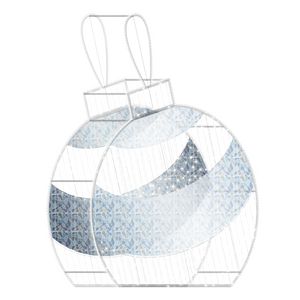 2D/3D Enchanted Pure White Ornament - 9.8ft - artistic-holiday-designs