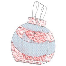 2D/3D Enchanted Red Ornament - 9.8ft - artistic-holiday-designs