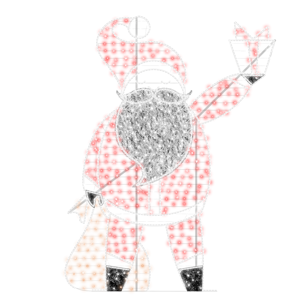 2D/3D Enchanted Santa - 9.8ft - artistic-holiday-designs
