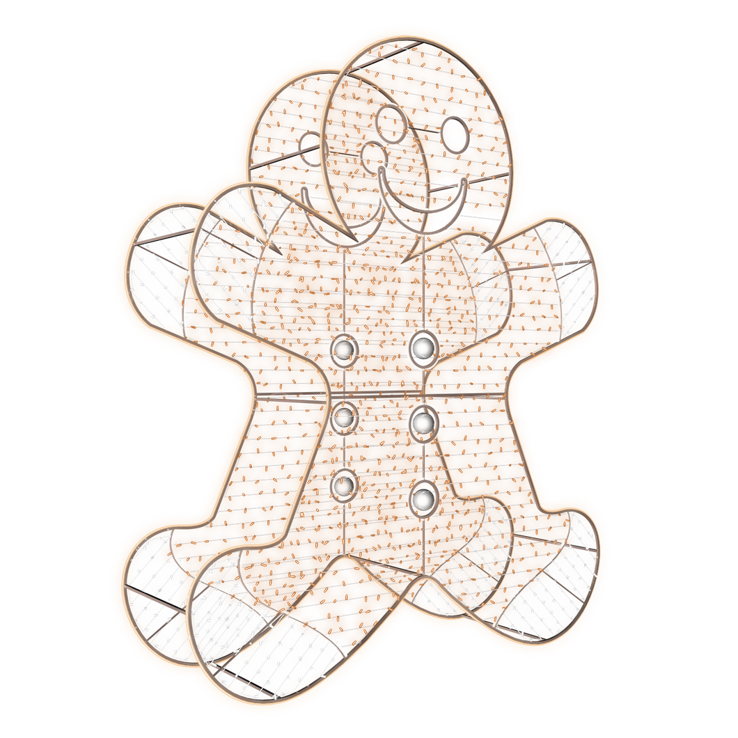 2D/3D Enchanted Gingerbread Man - 9.8ft - artistic-holiday-designs