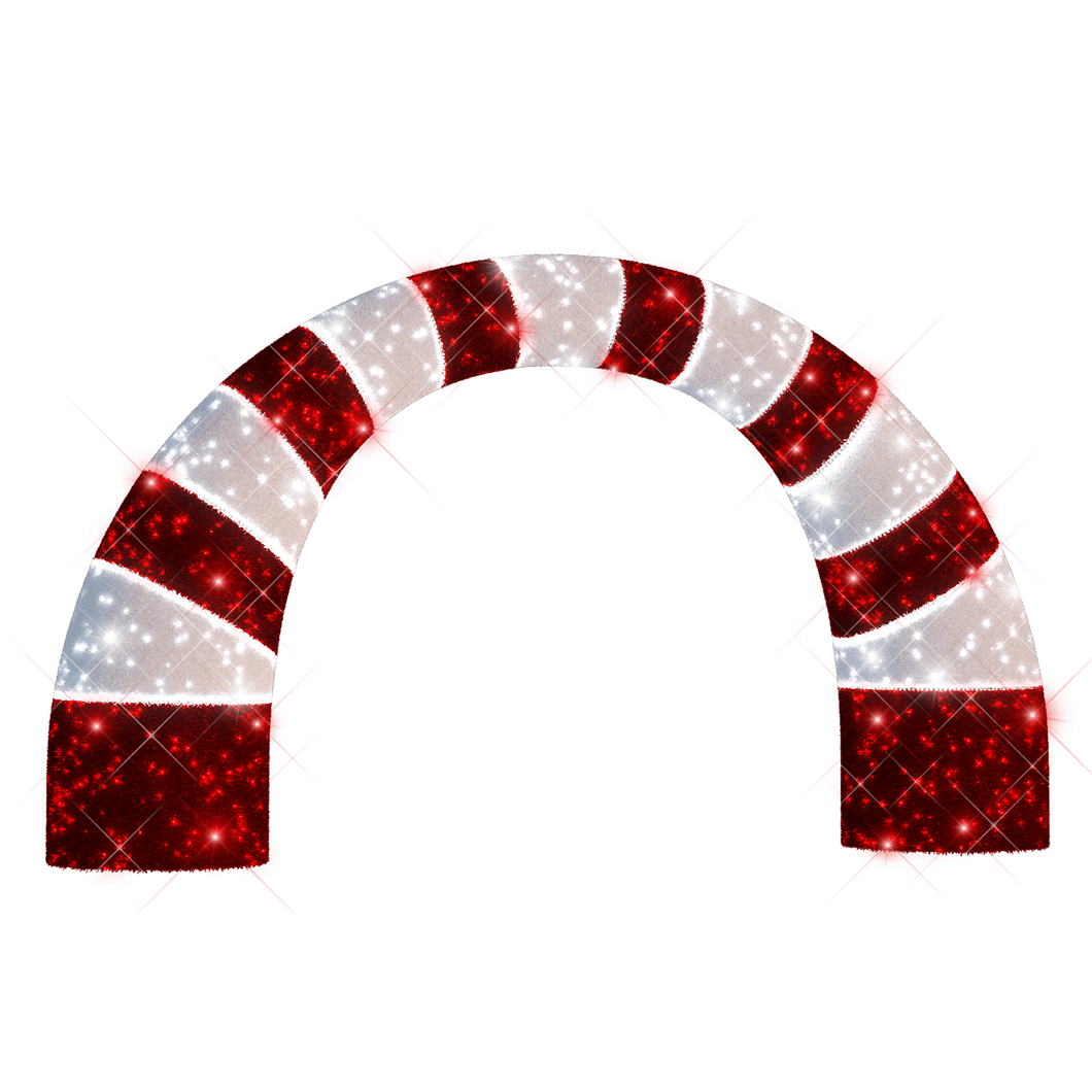 Candy Cane Arch - 11.15ft - artistic-holiday-designs