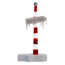 3D North Pole Sign - 6.5ft - artistic-holiday-designs