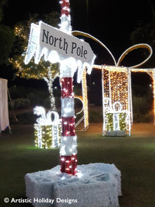 3D North Pole Sign - 9.84ft
