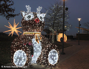 3D Rudolph - 11.48ft - refurbished