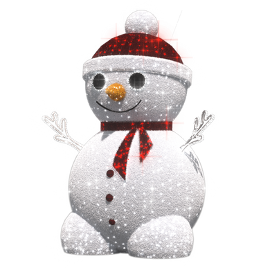 3D Snowman - 10.82ft - artistic-holiday-designs