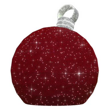 3D Large Red Ornament - 7.8ft - artistic-holiday-designs