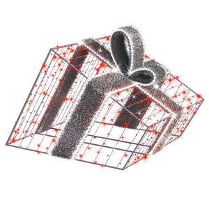 3D Giftbox - Red - 3.28ft - artistic-holiday-designs