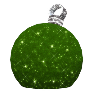 3D Large Green Ornament - 7.8ft