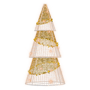 Gold Sparkle Cone Tree - 10.82ft - artistic-holiday-designs