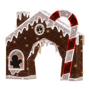 Gingerbread House Arch - 16ft - artistic-holiday-designs