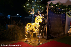 Gold Reindeer - 6.56ft