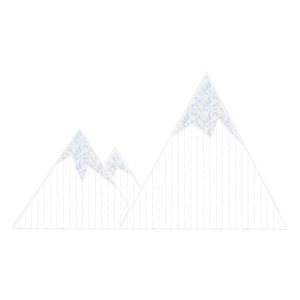 2D Snowy Mountain Display - 3.28ft