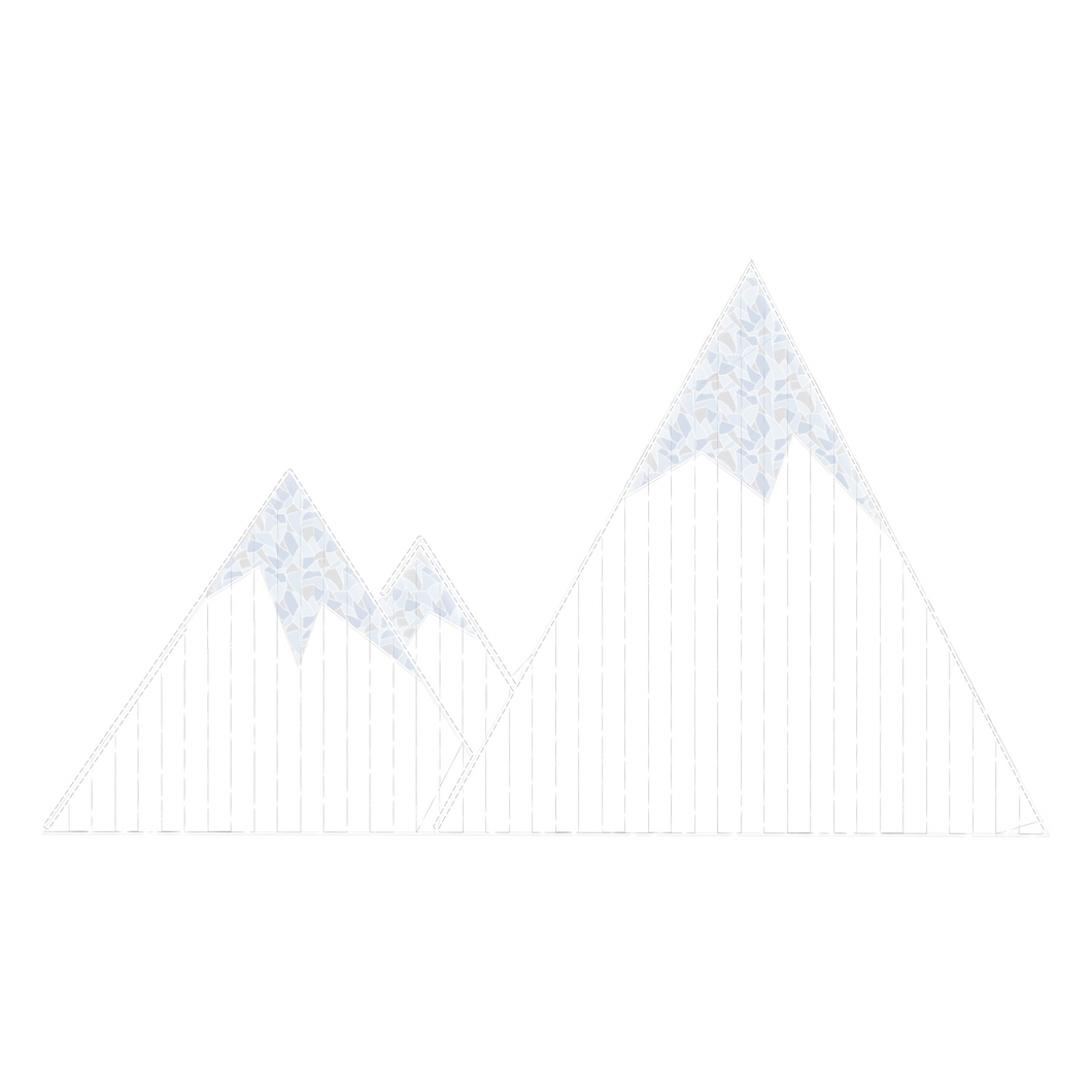 2D Snowy Mountain Display - 6.56ft