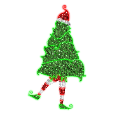 2D Silly Elf in Tree - 10ft