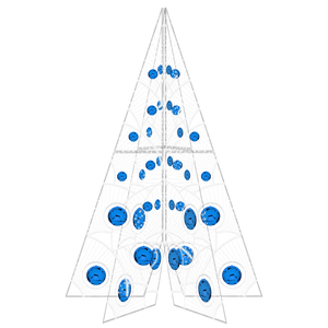 Manon Tree with Blue Ornaments - 19.6ft - artistic-holiday-designs