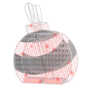 2D/3D Enchanted Red Ornament - 9.8ft
