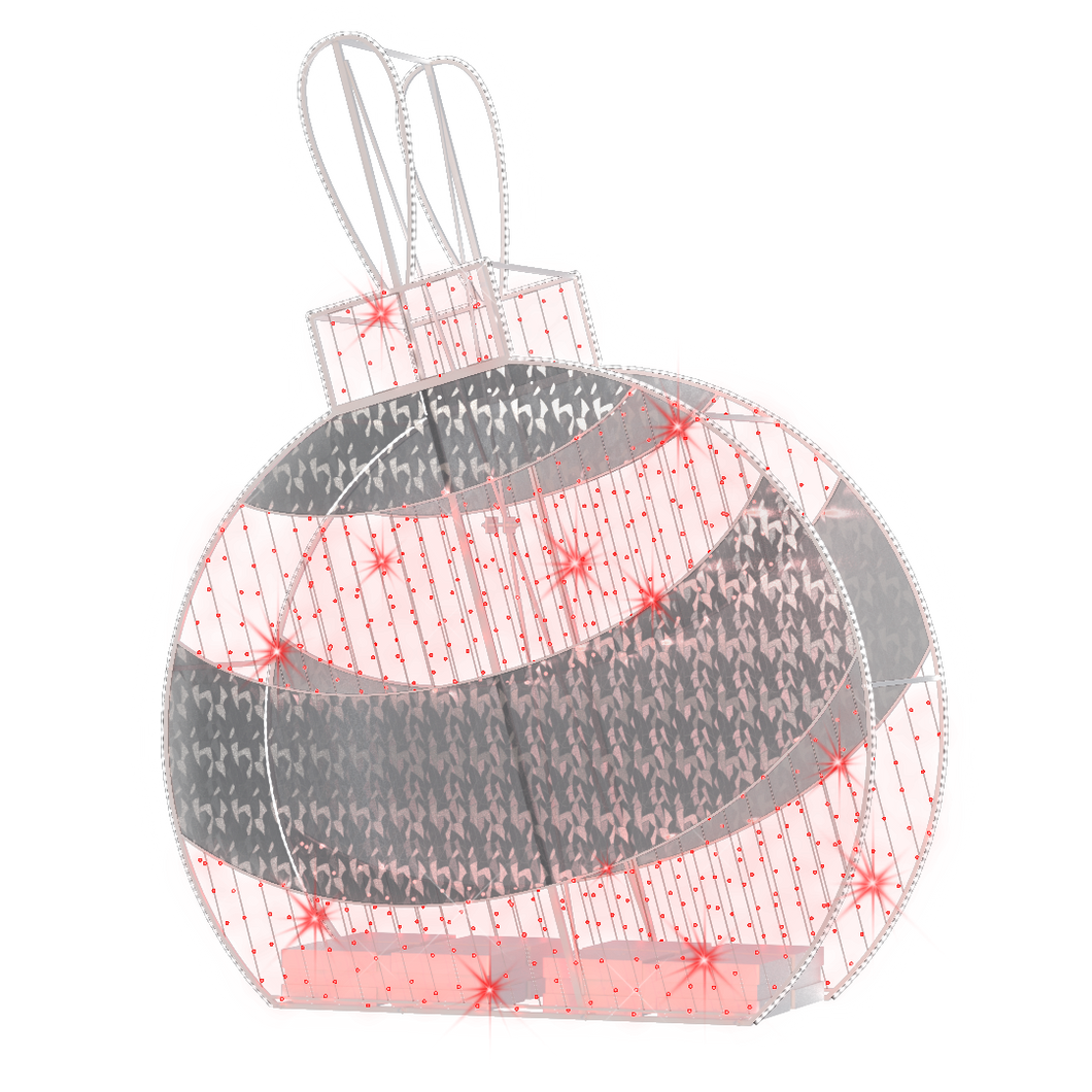 2D/3D Enchanted Red Ornament - 9.8ft - refurbished