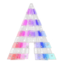 Walk Thru Polygon Tree with RGB Animation - 32.8ft